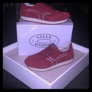 Steven Madden unisex throwback red sauce sneaker